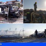 Arico | Una caravana sin ocupantes quedó calcinada en Abades