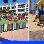Guía de Isora reabre sus parques infantiles, con dispensadores de gel hidroalcohólico y cartelería informativa