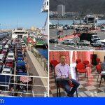 Arona y la Autoridad Portuaria buscan soluciones ante la saturación del Puerto de Los Cristianos, entre otros