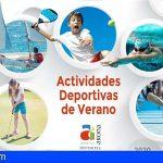 Arona promueve las actividades deportivas de verano con diferentes cursos para todas las edades