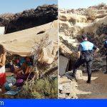 Granadilla y Costas proceden a la inspección de los asentamientos ilegales entre Agua Dulce y La Mareta