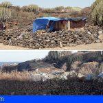 Se masifican los asentamientos en Playa de Las Burras, Las Galletas