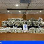 Intervienen en Madrid 225 kilos de cogollos de marihuana lista para su distribución en la UE