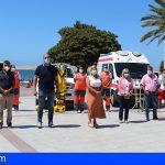 Granadilla presenta su nuevo servicio de vigilancia y salvamento en las playas