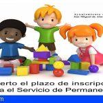 San Miguel abre el plazo de inscripción para el Servicio de Permanencia del curso escolar 2020-2021