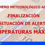 Finaliza la situación de Alerta por Temperaturas Máximas en Tenerife, El Hierro, La Palma, La Gomera y Gran Canaria