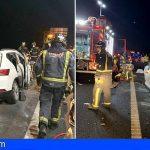 Granadilla | Cuatro heridos, dos de ellos graves, en un accidente en la TF-1 Aeropuerto Sur