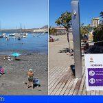 Arona vuelve a poner en funcionamiento el servicio de duchas públicas en las playas