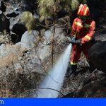 «El incendio en Garafía se da por estabilizado gracias a la intensa labor desarrollada desde el viernes»