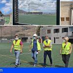 Arona impulsa la Ciudad Deportiva de Valle San Lorenzo con el avance de la reforma del campo Óscar Pérez Barrios