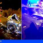 Tres heridos en un accidente de tráfico en Los Realejos