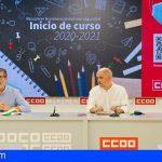 CCOO: «Hay que recuperar una presencialidad segura y duradera para el próximo curso»