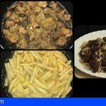 Juan Santana | Carne fiesta canaria con papas fritas al estilo Barbuzano