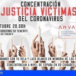Tenerife | ANVAC reivindica justicia para las víctimas del Covid-19 con una concentración el 1 de octubre