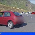Tenerife | Investigan al conductor que realizó un trompo en la carretera de Los Loros TF-523