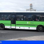 Titsa alcanza los 100.000 viajeros diarios por primera vez tras la declaración del estado de alarma