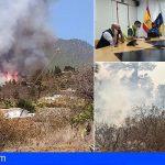 El Gobierno de Canarias declara el nivel 2 y asume la dirección del incendio en Tijarafe, La Palma