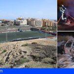Extinguen un incendio en el Campo de Fútbol de El Médano y en tres vehículos en Santa Cruz