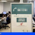 La línea 900 112 061 de atención Covid-19 incrementa su actividad en un 500% en el último mes