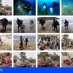 Adeje | Buceadores voluntarios recogieron hasta 100 Kg de basuras en Playa del Duque