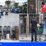 Desalojan, sin contratiempos, a los okupas del Centro Comercial en Los Tarajales