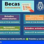 Tenerife abre el plazo para solicitar becas y ayudas a estudios del curso 2020-2021
