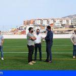 Stgo. del Teide invierte más de un millón en el acondicionamiento del campo de fútbol de Puerto de Santiago
