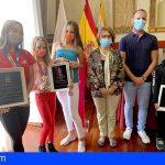 El ayuntamiento de Guía de Isora homenajea a tres jóvenes deportistas