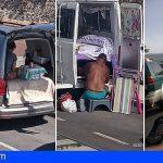 Vecinos de El Cabezo ya no aguantan la masificación de autocaravanas, el ruido y la suciedad que generan