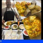 Juan Santana | Bacalao encebollado con batata y papas Barbuzano
