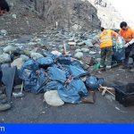 El Cabildo y la Fundación Santa Cruz Sostenible retiran 300 kilos de basura en la playa de Tamadite