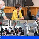 Torres y la directora general de la Guardia Civil abordan la situación de la migración en Canarias