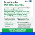 Canarias inicia una campaña informativa para clientes y alojamientos sobre la obligatoriedad del test