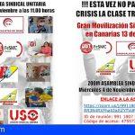 Canarias   Los Sindicatos preparan la movilización unitaria del próximo 13 de noviembre