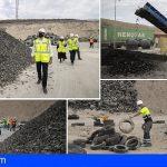 Ya se han retirado 2.500 toneladas de neumáticos del Complejo Ambiental de Arico