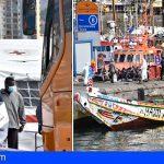 Remolcan una embarcación con 118 varones a Los Cristianos