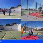 San Miguel termina las obras en el polideportivo de Tamaide y El Frontón