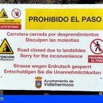 Vallehermoso declara de emergencia el cierre del acceso a Argaga