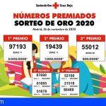 Cruz Roja en Canarias reparte cerca de 300.000 euros con el Sorteo de Oro