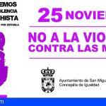 San Miguel | 25 de noviembre – NO a la violencia contra las mujeres Programa de actividades