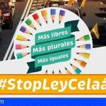 Manifestación en coches este domingo en Santa Cruz de Tenerife contra la Ley Celaá