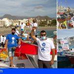 Los pescadores de Los Cristianos se manifestaron para reivindicar las cuotas del Atún