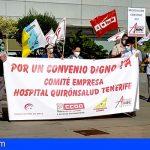 El Comité de Empresa del Hospital Quironsalud Tenerife continua con las movilizaciones