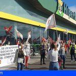 Continúan las movilizaciones en defensa del convenio del comercio de la alimentación de Santa Cruz de Tenerife