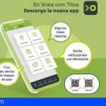 TITSA suma casi 12.000 descargas de su nueva aplicación móvil en un mes