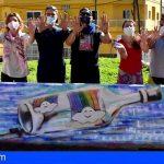Hoy despegó en el Valle San Lorenzo ColorEarte, dibujando valores sobre pintadas homófobas y descalificativas