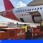 El Grupo Iberia e IAG Cargo llevan a Canarias y Melilla las vacunas de Moderna