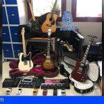 Tres detenidos en Arona por sustraer material musical, valorado en 30.000€, de un vehículo