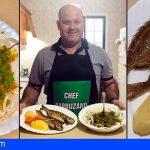 Juan Santana | Pescado frito con papas, batatas y gofio