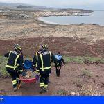 Granadilla | Rescatan a una senderista en Montaña Roja